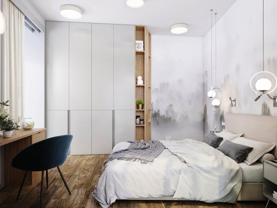 Фотография: Спальня в стиле Современный, Квартира, Проект недели, Московская область, 3 комнаты, 60-90 метров, Екатерина Саламандра – фото на INMYROOM