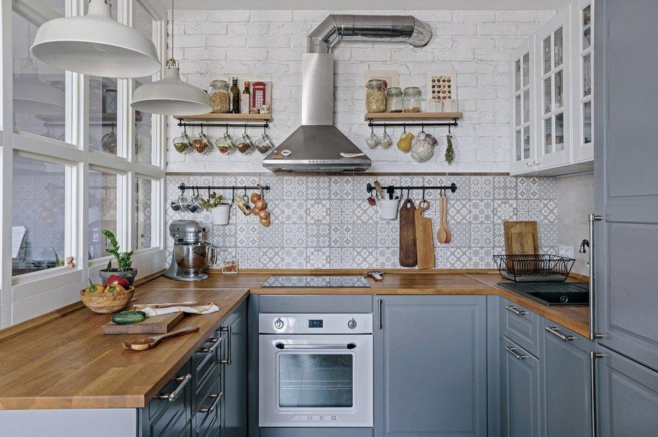 Фотография: Кухня и столовая в стиле Скандинавский, Квартира, Белый, Проект недели, Евгения Лыкасова – фото на INMYROOM