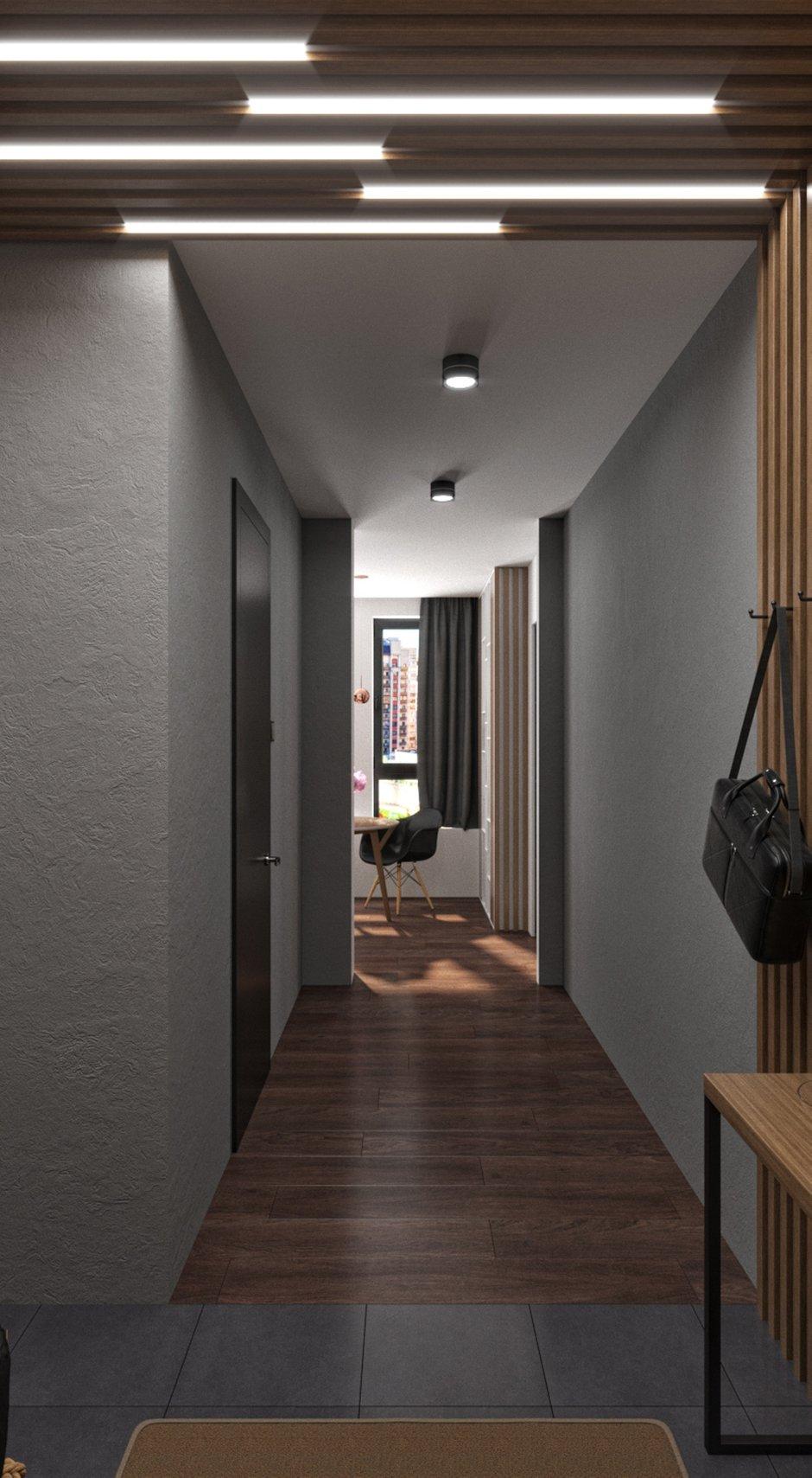 Фотография: Прихожая в стиле Современный, Лофт, Квартира, Проект недели, Химки, Панельный дом, 1 комната, 40-60 метров, Андрей Рыбаков – фото на INMYROOM