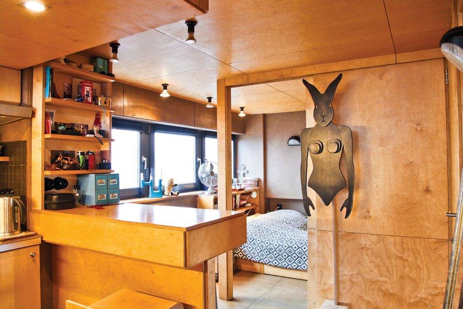 Фотография: Кухня и столовая в стиле Лофт, Малогабаритная квартира, Квартира, Дома и квартиры, Квартиры – фото на INMYROOM