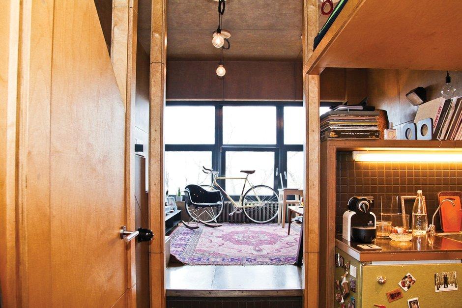 Фотография: Прихожая в стиле Лофт, Малогабаритная квартира, Квартира, Дома и квартиры, Квартиры – фото на INMYROOM