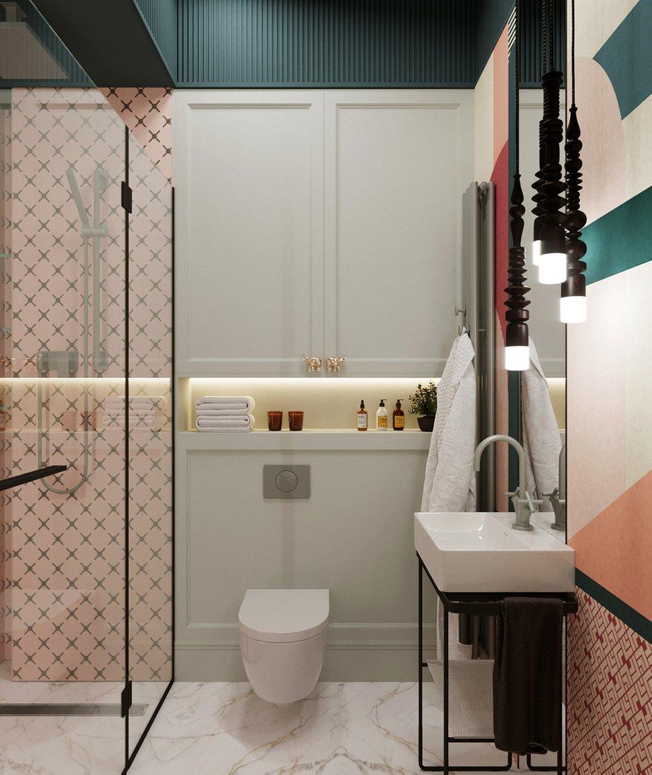 Фотография: Ванная в стиле Современный, Малогабаритная квартира, Квартира, Проект недели, Санкт-Петербург, Сталинка, 1 комната, до 40 метров, АРИНА ТРОИЛОВА – фото на INMYROOM