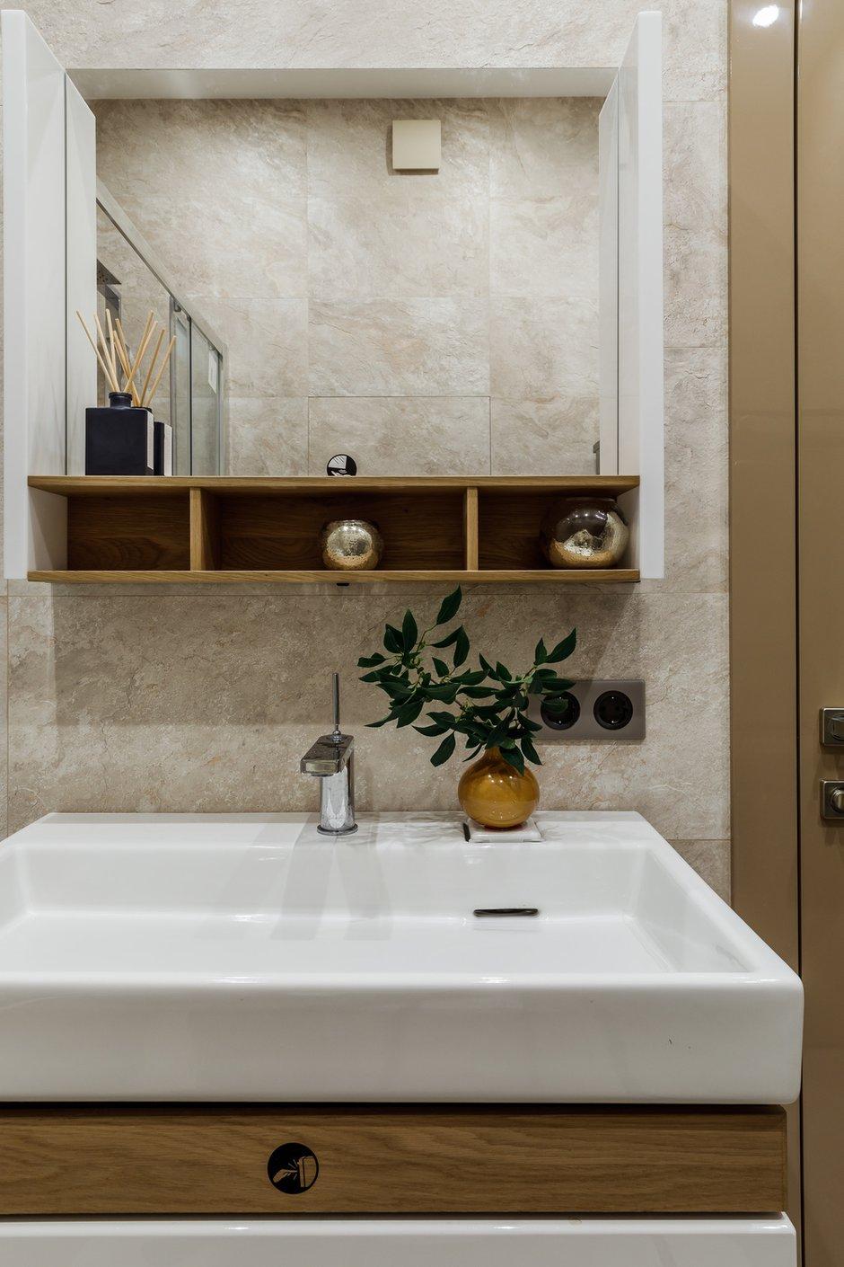 Фотография: Ванная в стиле Современный, Квартира, Проект недели, Москва, 3 комнаты, 60-90 метров, Мариям Тагиева – фото на INMYROOM