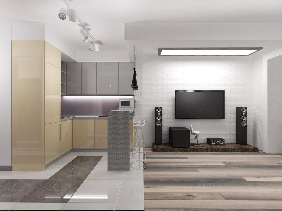 Фотография: Кухня и столовая в стиле Современный, Хай-тек, Квартира, Дома и квартиры, Проект недели – фото на INMYROOM