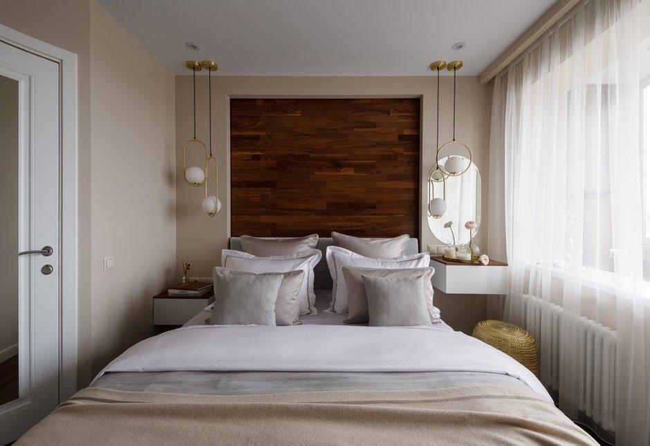 Фотография: Спальня в стиле Современный, Квартира, Проект недели, Москва, Панельный дом, 2 комнаты, 40-60 метров, Светлана Капустина – фото на INMYROOM