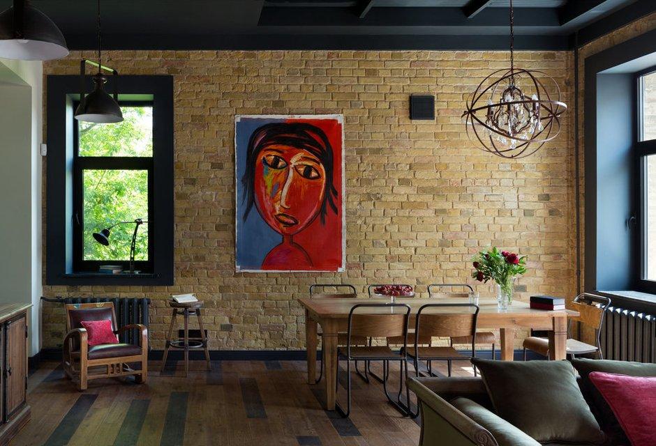 Фотография: Кухня и столовая в стиле Лофт, Квартира, Советы, Отделка стен, Loggia, покраска стен, декоративная отделка стен – фото на INMYROOM