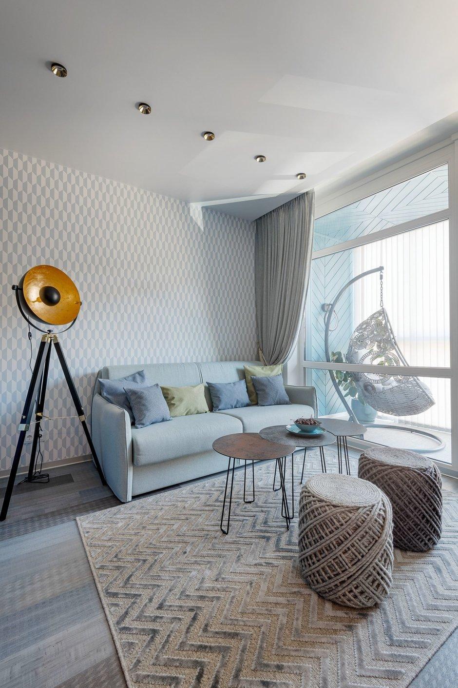 Фотография: Гостиная в стиле Современный, Квартира, Проект недели, 2 комнаты, 40-60 метров, Светлогорск, Виктория Лазарева – фото на INMYROOM
