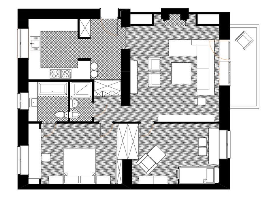 Фотография: Планировки в стиле , Современный, Квартира, Дома и квартиры, Проект недели – фото на INMYROOM
