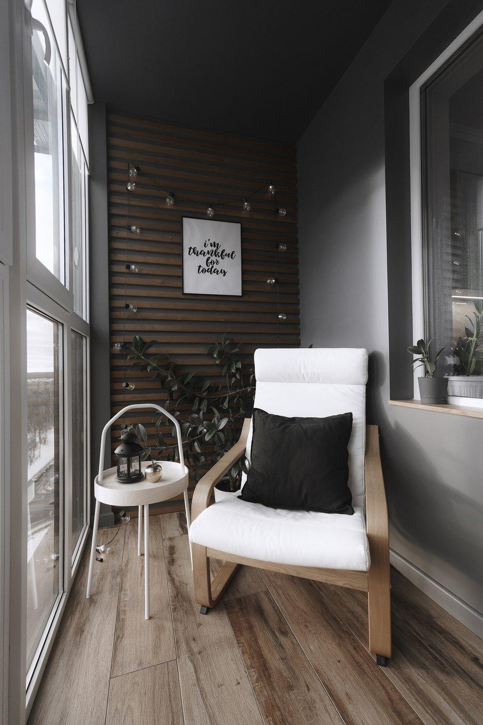 Фотография: Балкон в стиле Скандинавский, Современный, Квартира, Минимализм, Проект недели, Пенза, 3 комнаты, Более 90 метров, Юлия Власова – фото на INMYROOM