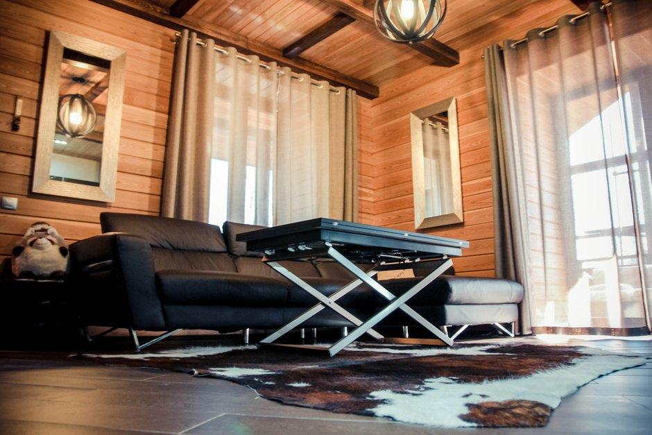 Фотография: Гостиная в стиле Лофт, Современный, Дом, Дома и квартиры, Шале – фото на INMYROOM