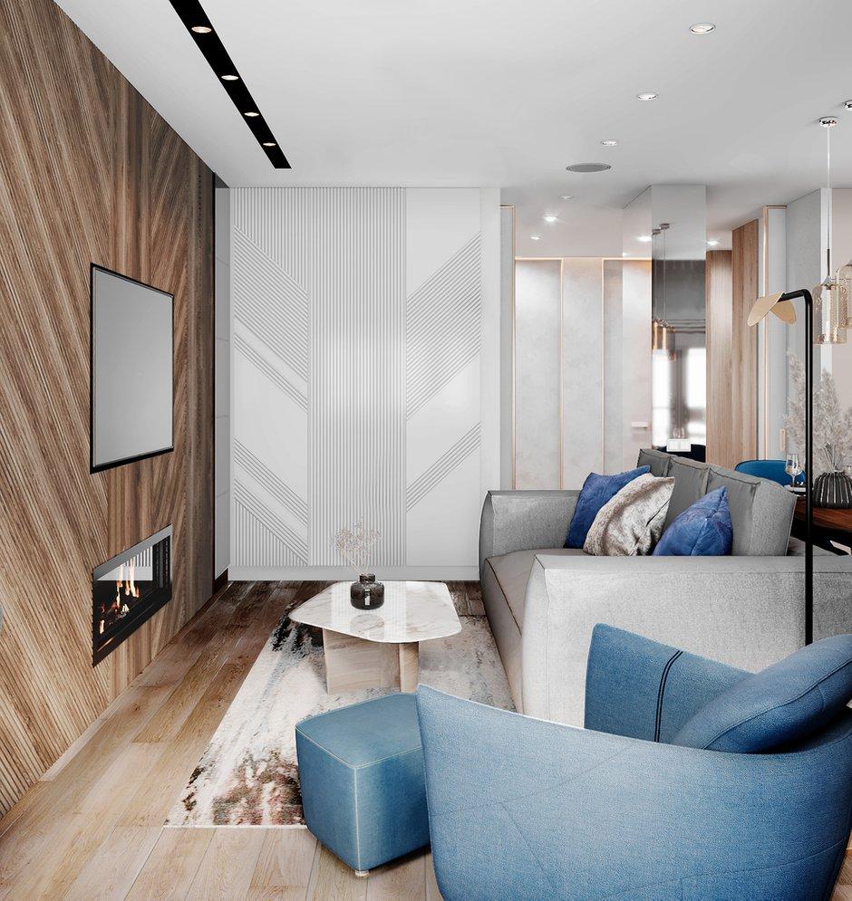 Фотография: Гостиная в стиле Современный, Квартира, Проект недели, 3 комнаты, Более 90 метров, Люберцы, Александра Гартке – фото на INMYROOM