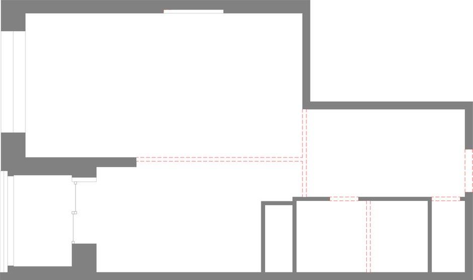 Фотография: Планировки в стиле , Квартира, Студия, Минимализм, Проект недели, Москва, Дарья Бутахина, Александр Кудимов, Монолитный дом, 40-60 метров, архитектурная мастерская Ruetemple – фото на INMYROOM
