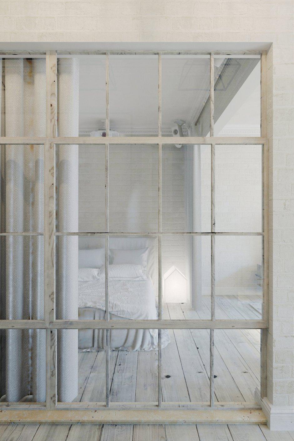 Фотография: Спальня в стиле Лофт, Скандинавский, Квартира, Цвет в интерьере, Дома и квартиры, Белый – фото на INMYROOM