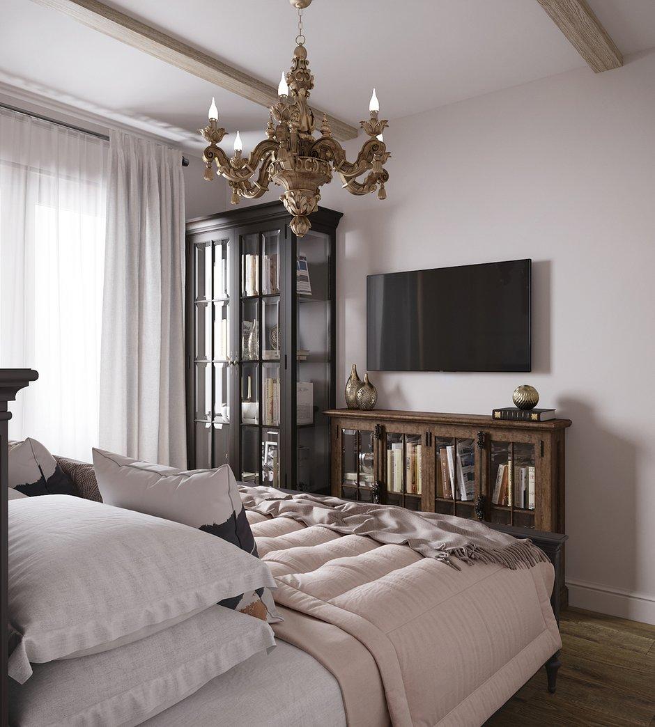 Фотография: Спальня в стиле Классический, Квартира, Проект недели, Москва, 3 комнаты, 60-90 метров, Светлана Удзилаури – фото на INMYROOM