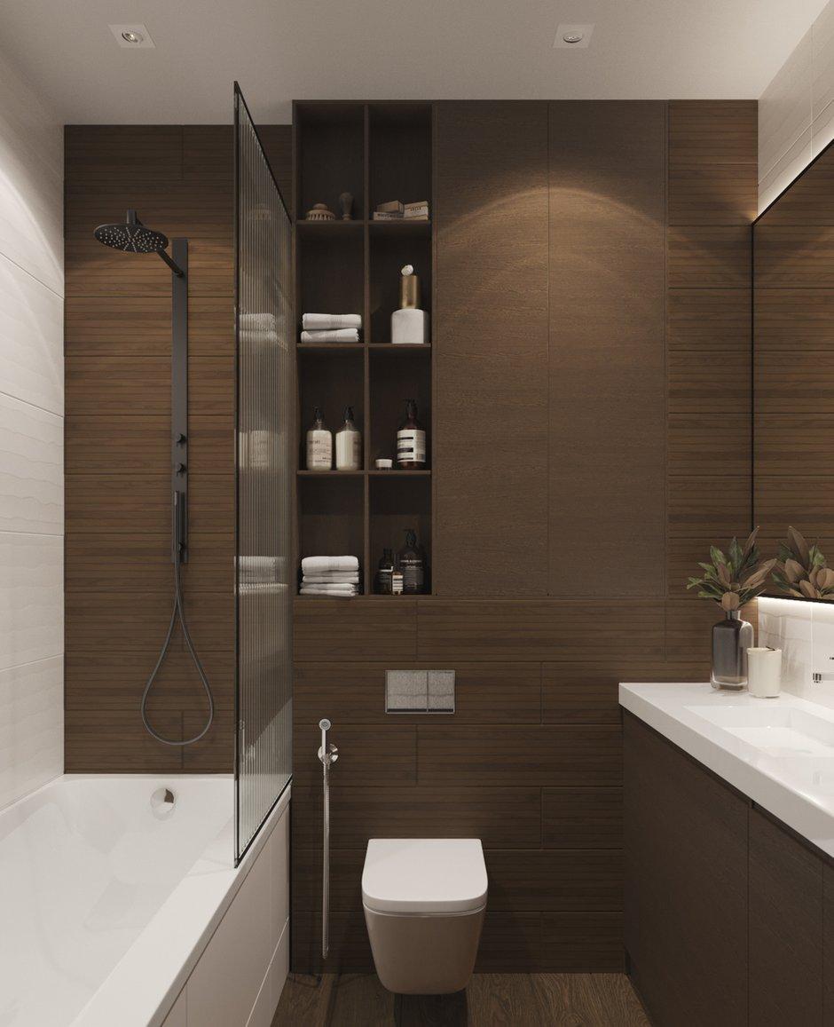 Фотография: Ванная в стиле Современный, Квартира, Проект недели, Москва, Юлия Чернова, 1 комната, до 40 метров – фото на INMYROOM