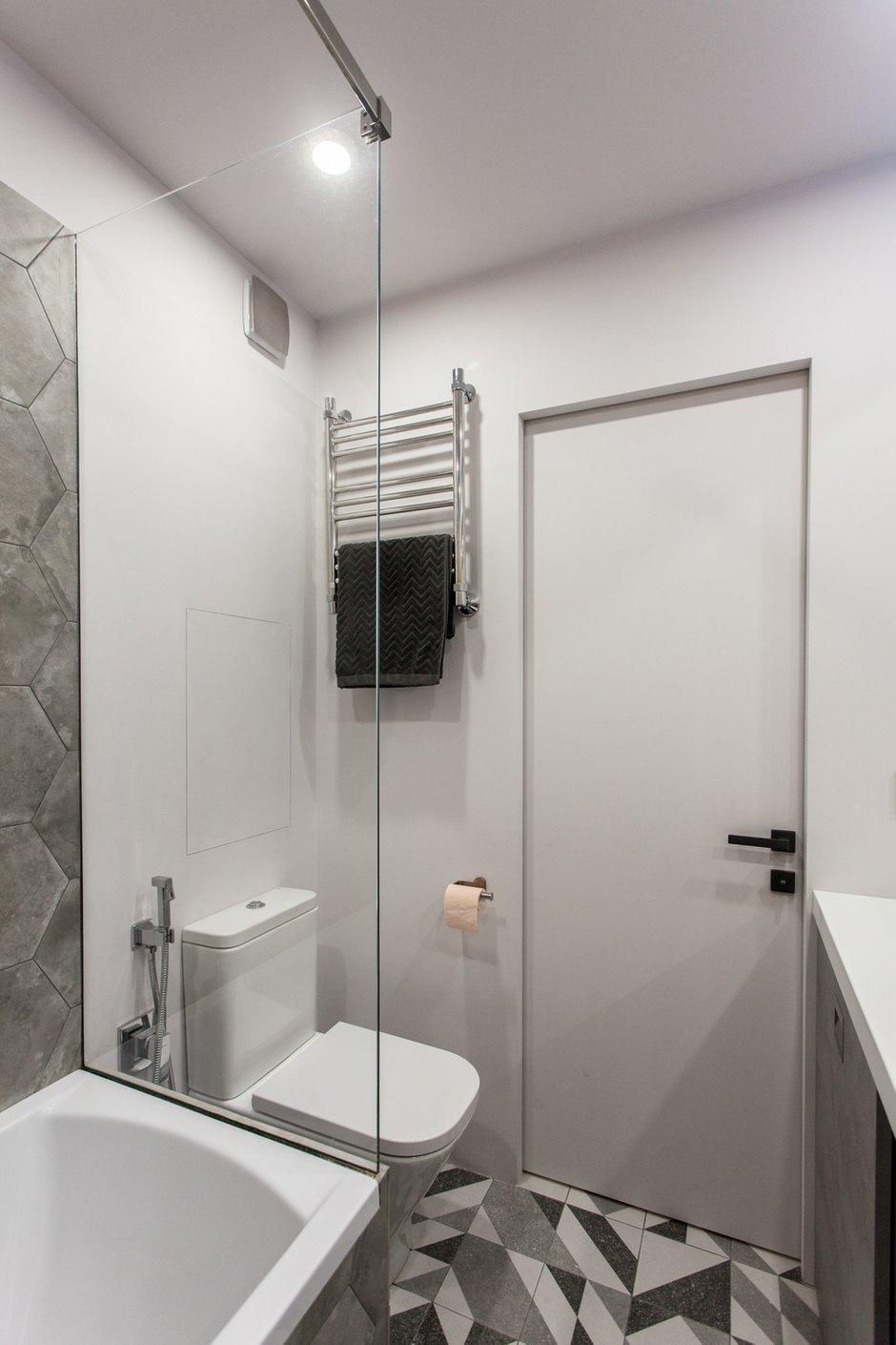Фотография: Ванная в стиле Современный, Лофт, Квартира, Проект недели, Москва, 1 комната, до 40 метров, 40-60 метров, MiR Buro – фото на INMYROOM