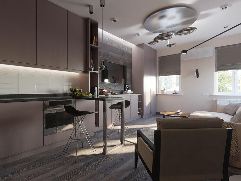 Фотография: Кухня и столовая в стиле Современный, Квартира, Студия, Проект недели, Красногорск, до 40 метров, ArtBaza design studio – фото на INMYROOM