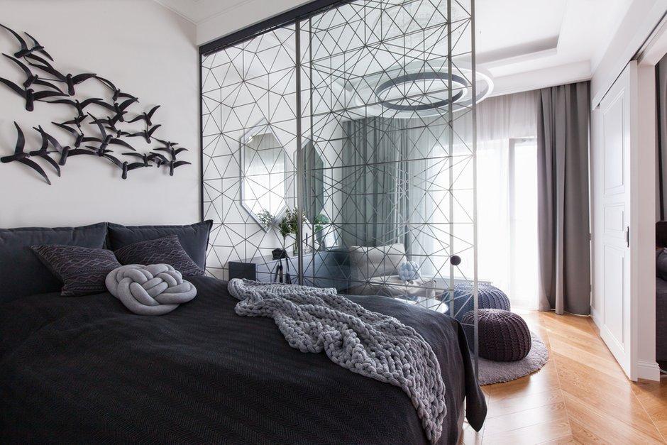 Фотография: Спальня в стиле Современный, Восточный, Квартира, Проект недели, Санкт-Петербург, Монолитно-кирпичный, ЖК «Чапаева – фото на INMYROOM
