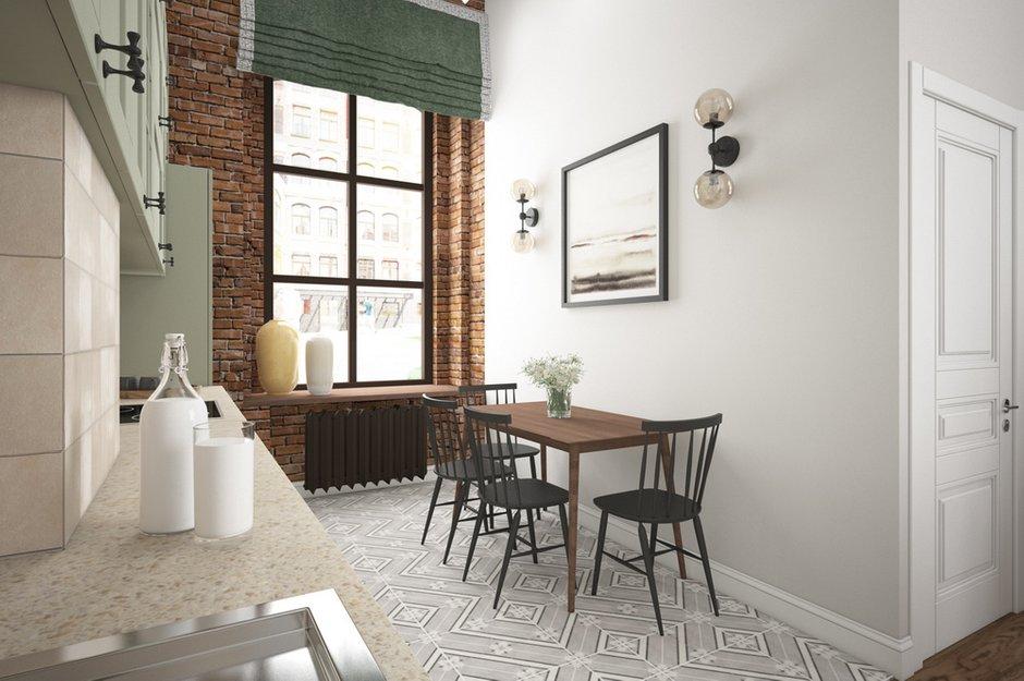 Фотография: Кухня и столовая в стиле Лофт, Детская, Скандинавский, Квартира, Проект недели, Москва – фото на INMYROOM