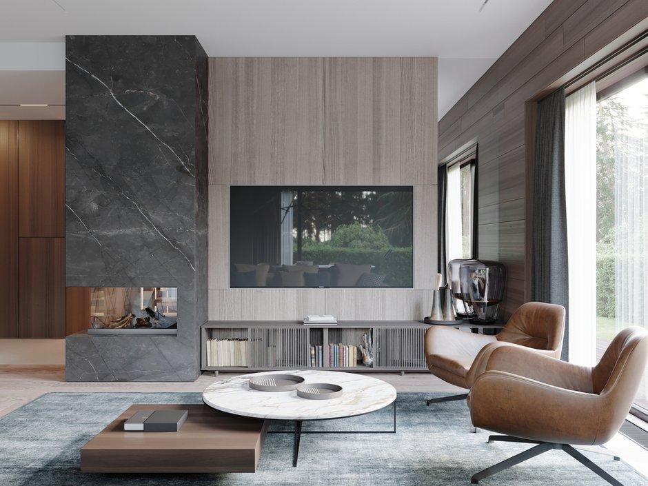Фотография: Гостиная в стиле Современный, Квартира, Проект недели, 4 и больше, Более 90 метров, Ab-architects, Level Barvikha – фото на INMYROOM