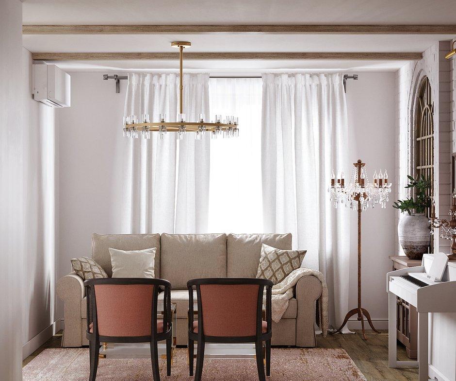 Фотография: Гостиная в стиле Классический, Квартира, Проект недели, Москва, 3 комнаты, 60-90 метров, Светлана Удзилаури – фото на INMYROOM