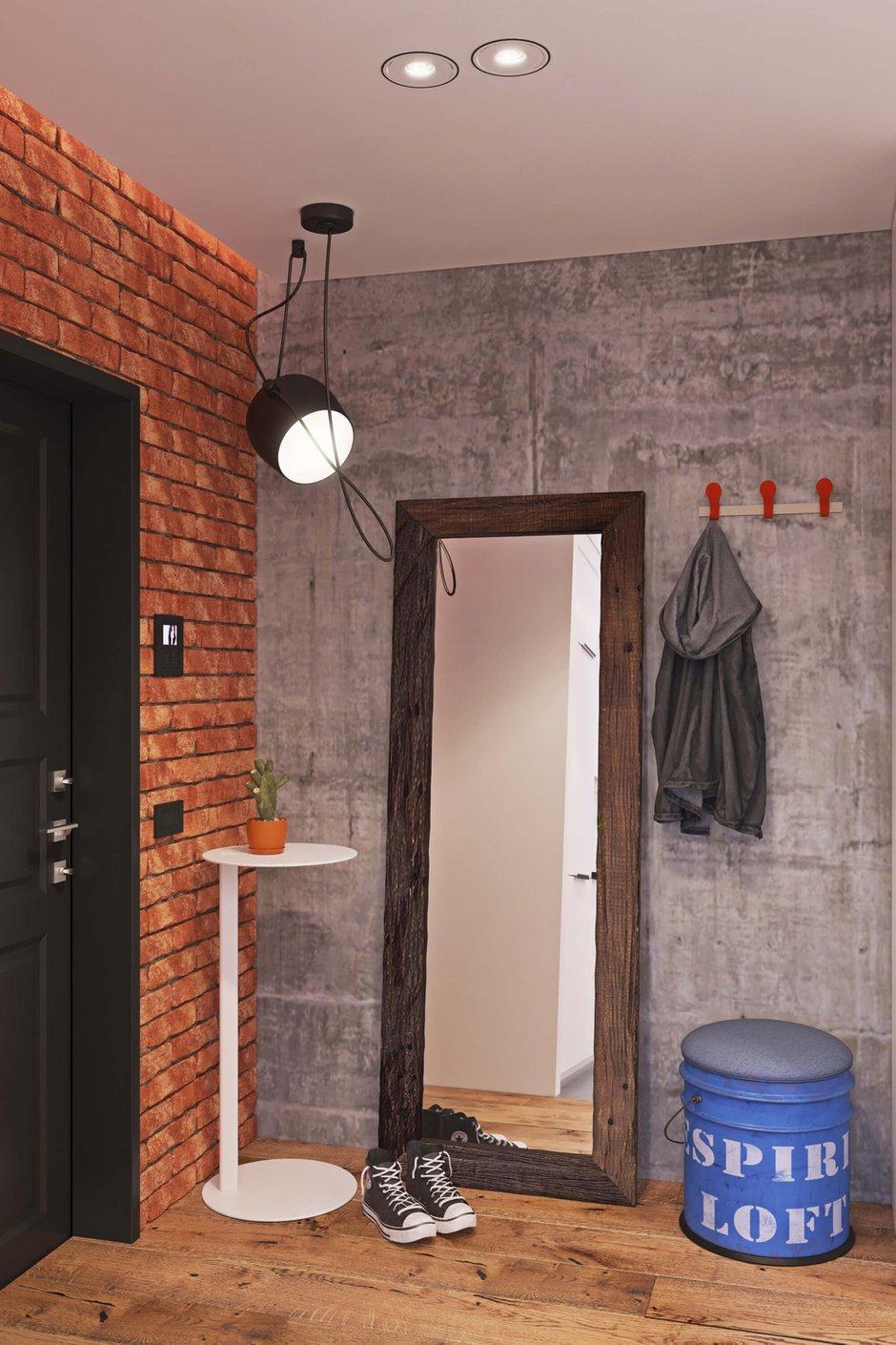 Фотография: Прихожая в стиле Лофт, Квартира, Проект недели, Одинцово, Geometrium, Московская область, Монолитный дом, 2 комнаты, 60-90 метров – фото на INMYROOM