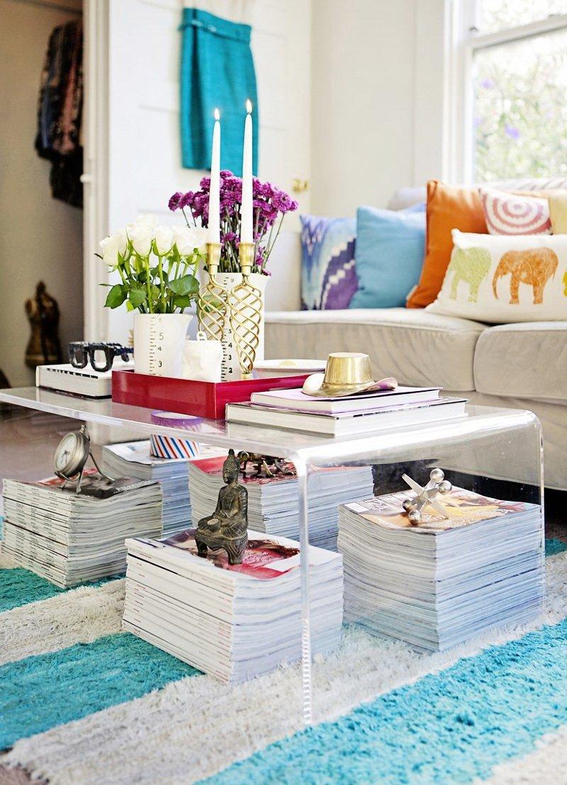 Фотография: Гостиная в стиле Скандинавский, Малогабаритная квартира, Квартира, Цвет в интерьере, Дома и квартиры – фото на INMYROOM