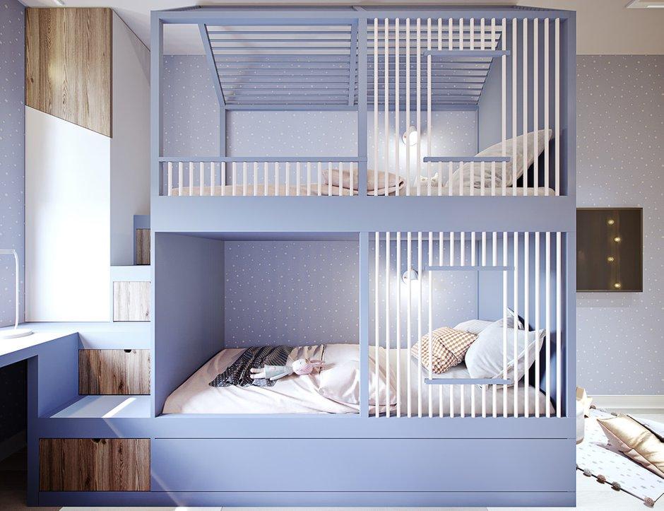 Фотография: Детская в стиле Современный, Квартира, Проект недели, Москва, 4 и больше, Более 90 метров, Little Space – фото на INMYROOM