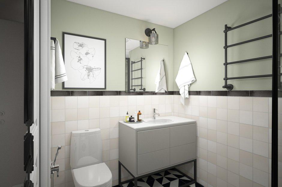 Фотография: Ванная в стиле Скандинавский, Детская, Лофт, Квартира, Проект недели, Москва – фото на INMYROOM
