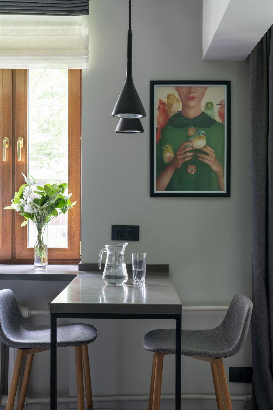 Фотография: Кухня и столовая в стиле Современный, Малогабаритная квартира, Квартира, Студия, Проект недели, Москва, Хрущевка, 1 комната, Huge Studio – фото на INMYROOM