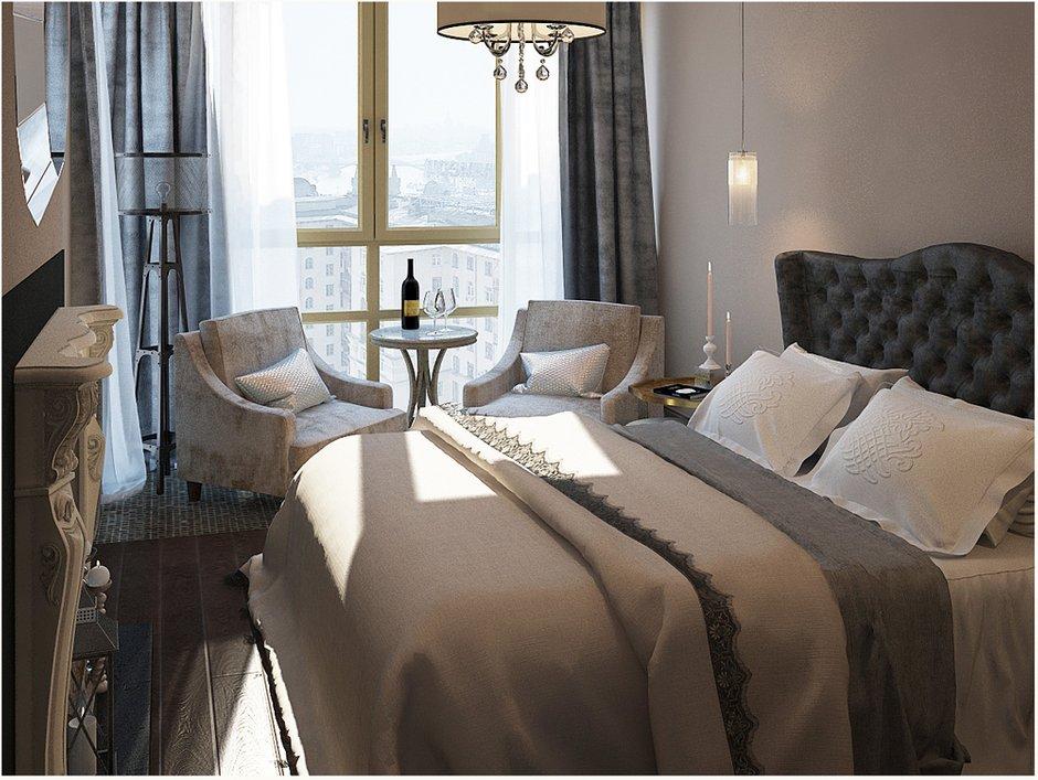 Фотография: Спальня в стиле Прованс и Кантри, Квартира, Цвет в интерьере, Дома и квартиры, Проект недели, Серый – фото на INMYROOM