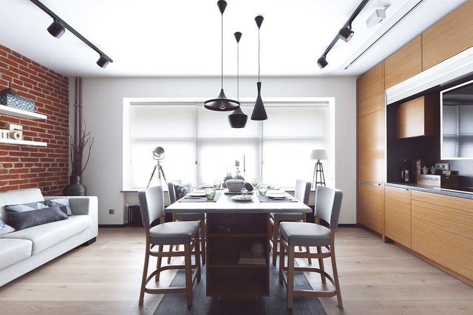 Фотография: Кухня и столовая в стиле Лофт, Современный, Малогабаритная квартира, Квартира, Дома и квартиры, Проект недели – фото на INMYROOM