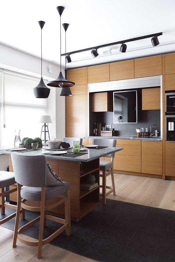 Фотография: Кухня и столовая в стиле Лофт, Малогабаритная квартира, Квартира, Дома и квартиры, Проект недели, Надя Зотова – фото на INMYROOM