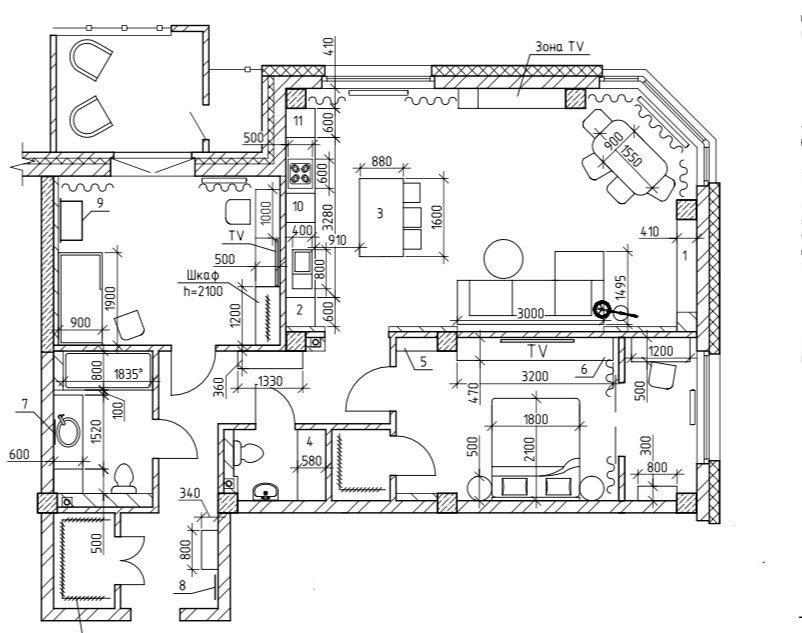 Фотография: Планировки в стиле , Современный, Квартира, Проект недели, Челябинск, 3 комнаты, Более 90 метров, Анна Важенина – фото на INMYROOM