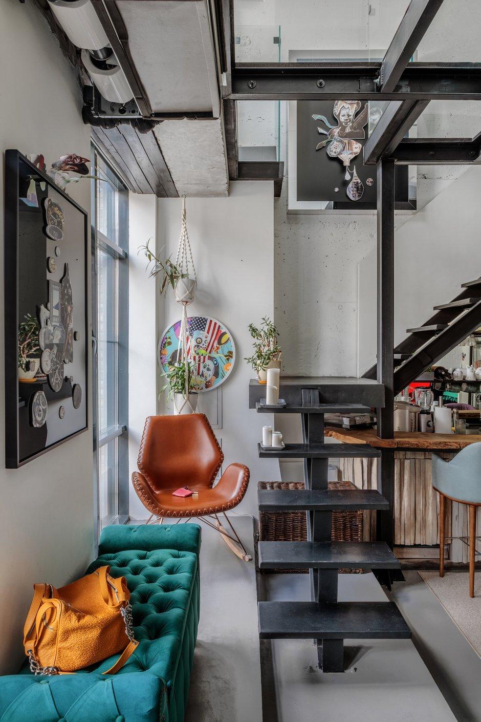Фотография: Гостиная в стиле Лофт, Квартира, Проект недели, Москва, 3 комнаты, 60-90 метров, Мария Полянская – фото на INMYROOM