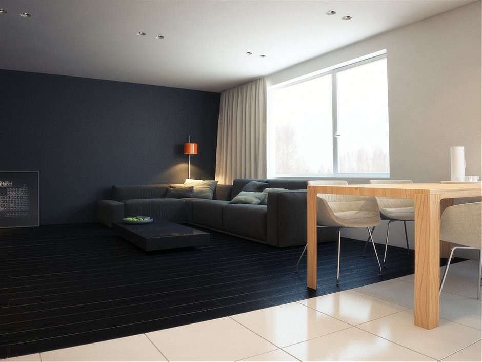 Фотография: Гостиная в стиле Современный, Хай-тек, Квартира, Дома и квартиры, Минимализм – фото на INMYROOM