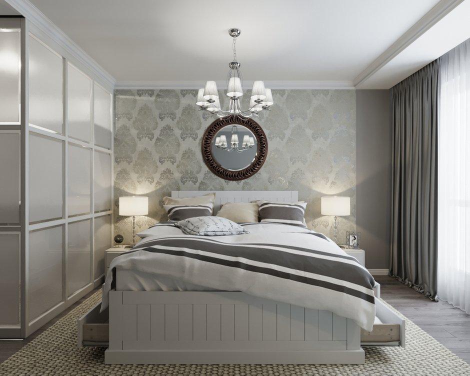 Фотография: Спальня в стиле Классический, Скандинавский, Эклектика, Квартира, BoDeCo, Проект недели, Беларусь, Панельный дом, 3 комнаты, 60-90 метров, Гомель, ANTEI – фото на INMYROOM