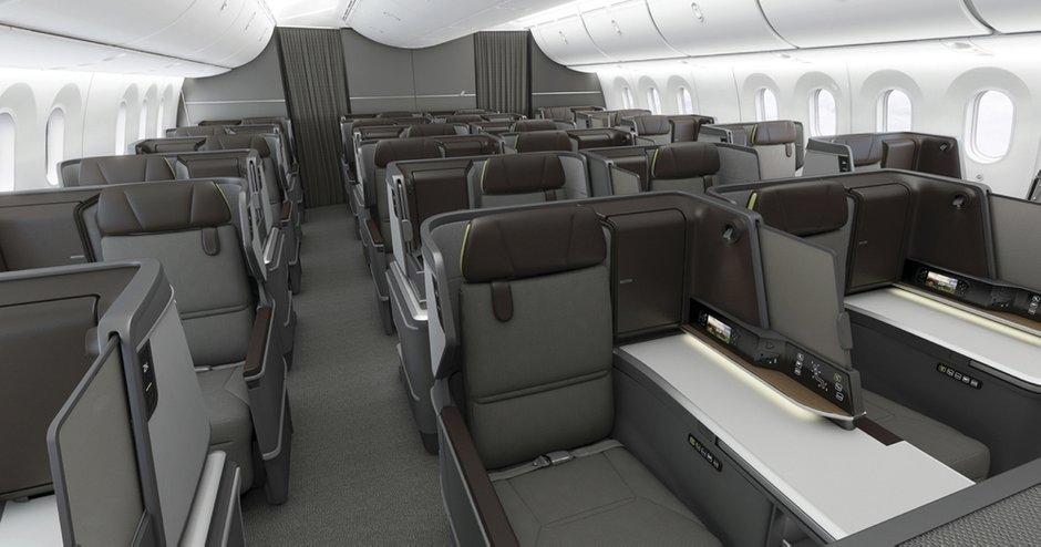 Салон бизнес-класса студии BMW Designworks для самолетов тайваньской авиакомпании EVA Air
