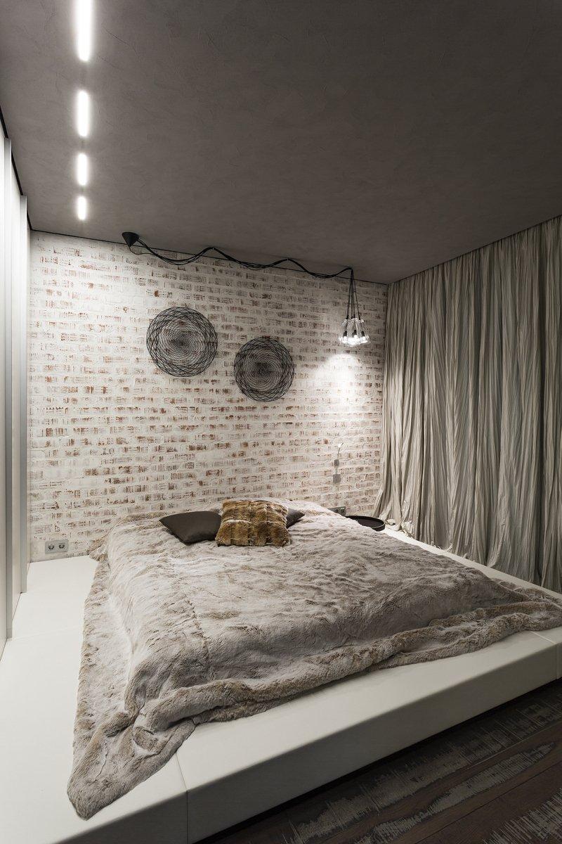 Фотография: Спальня в стиле Лофт, Квартира, Дома и квартиры, Минимализм – фото на INMYROOM