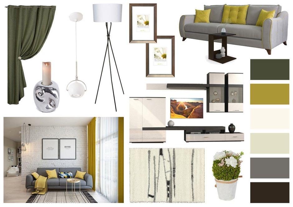 Фотография:  в стиле , Гостиная, Декор интерьера, HOFF, Мебель и свет, HOFF, современный стиль в интерьере, гостиная в скандинавском стиле, Екатерина Кажанова – фото на INMYROOM