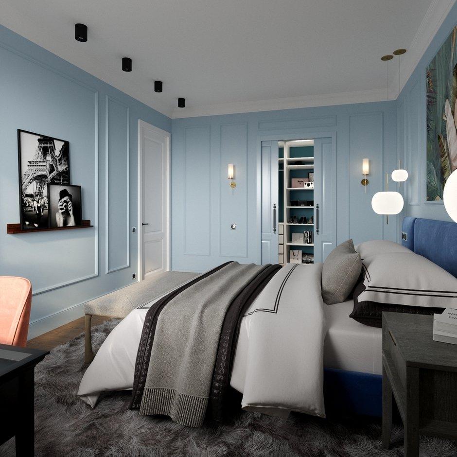 Фотография: Спальня в стиле Современный, Квартира, Проект недели, Москва, Алена Власова, Старый фонд, 2 комнаты, 60-90 метров – фото на INMYROOM