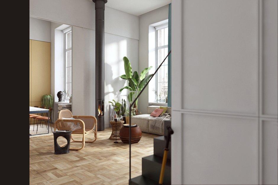 Фотография: Гостиная в стиле Эклектика, Современный, Квартира, Студия, Проект недели, Лондон, 1 комната, 40-60 метров, Полина Казакова – фото на INMYROOM