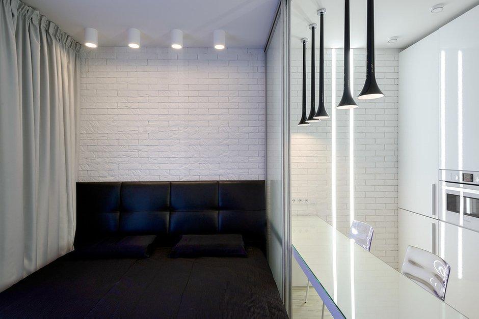 Фотография: Спальня в стиле Современный, Малогабаритная квартира, Квартира, Дома и квартиры, Минимализм, Переделка – фото на INMYROOM