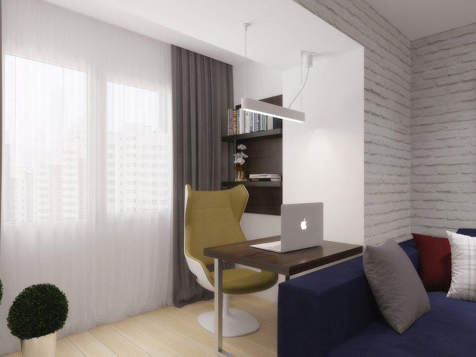 Фотография: Офис в стиле Скандинавский, Квартира, Дома и квартиры, Перепланировка – фото на INMYROOM