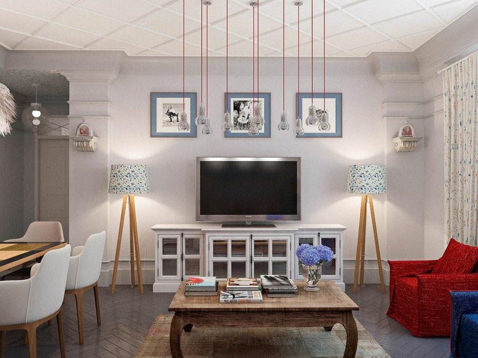 Фотография: Гостиная в стиле Современный, Эклектика, Классический, Квартира, Проект недели – фото на INMYROOM