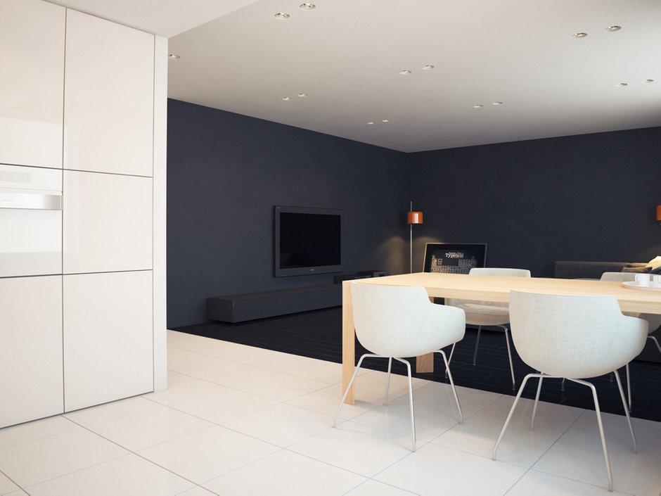 Фотография: Кухня и столовая в стиле Современный, Хай-тек, Квартира, Дома и квартиры, Минимализм – фото на INMYROOM