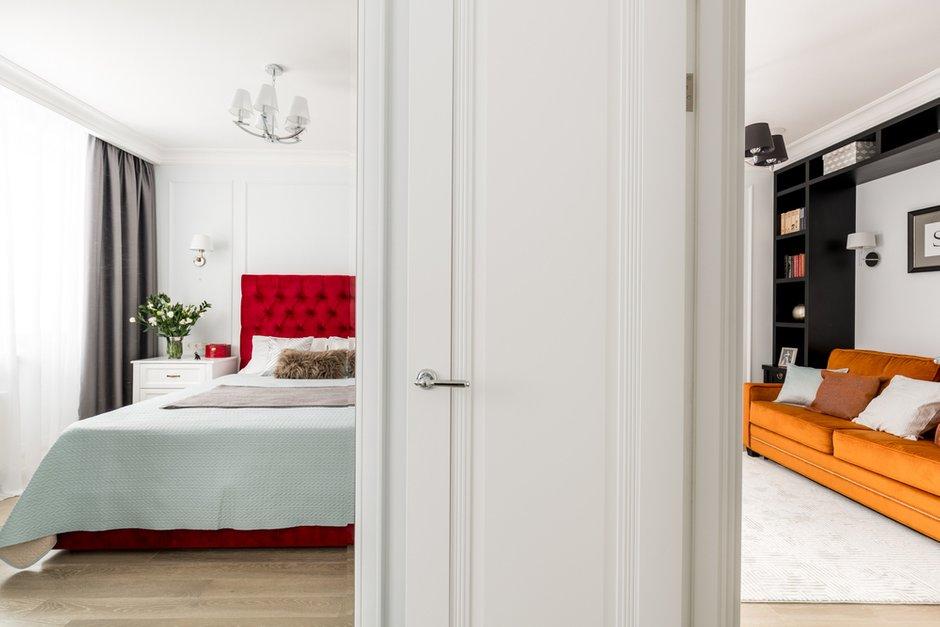 Фотография: Спальня в стиле Классический, Современный, Квартира, Проект недели, Москва, Монолитный дом, 2 комнаты, 40-60 метров, Наталья Широкорад – фото на INMYROOM
