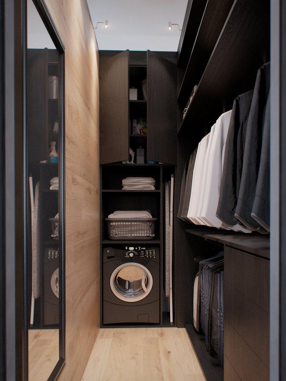 Фотография: Гардеробная в стиле Лофт, Современный, Эко, Скандинавский, Квартира, Минимализм, Проект недели – фото на INMYROOM