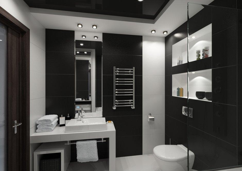 Фотография: Ванная в стиле Современный, Хай-тек, Квартира, Дома и квартиры, Минимализм, Проект недели – фото на INMYROOM