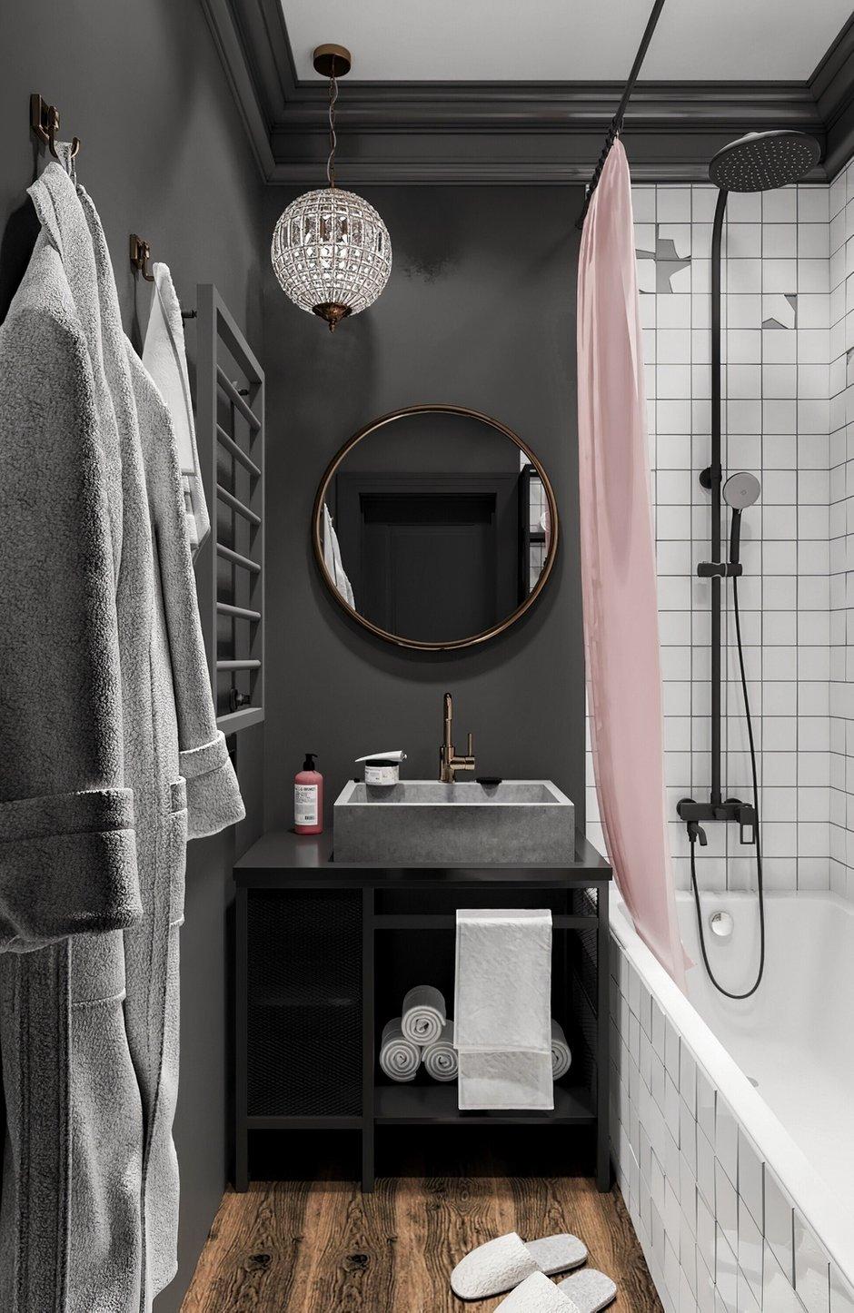 Фотография: Ванная в стиле Лофт, Эклектика, Квартира, Проект недели, Москва, 3 комнаты, 60-90 метров, Анна Показаньева – фото на INMYROOM